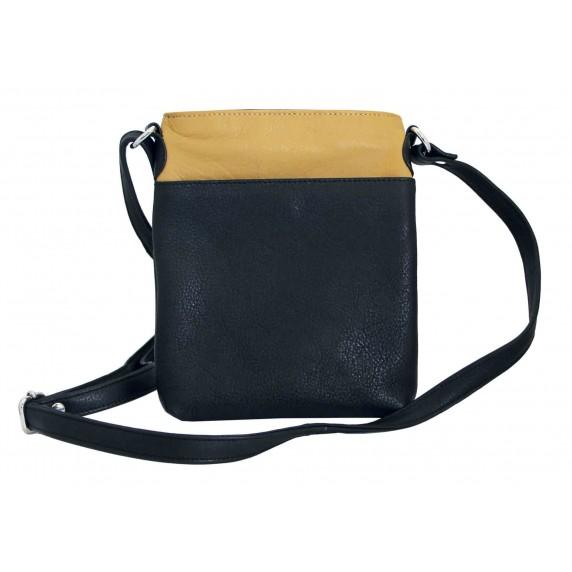 sacoche jaune noire cuir