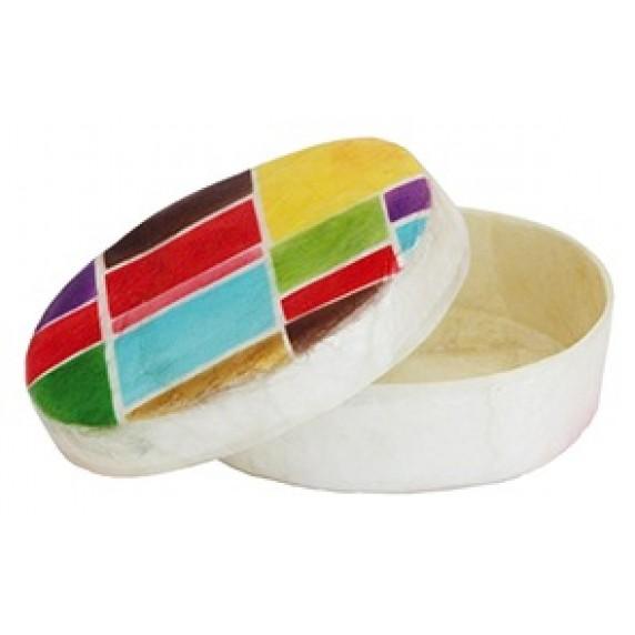 Boîte ronde Mondrian
