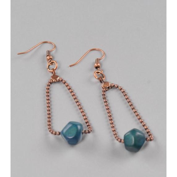 Boucles d'oreilles Açaï bleues