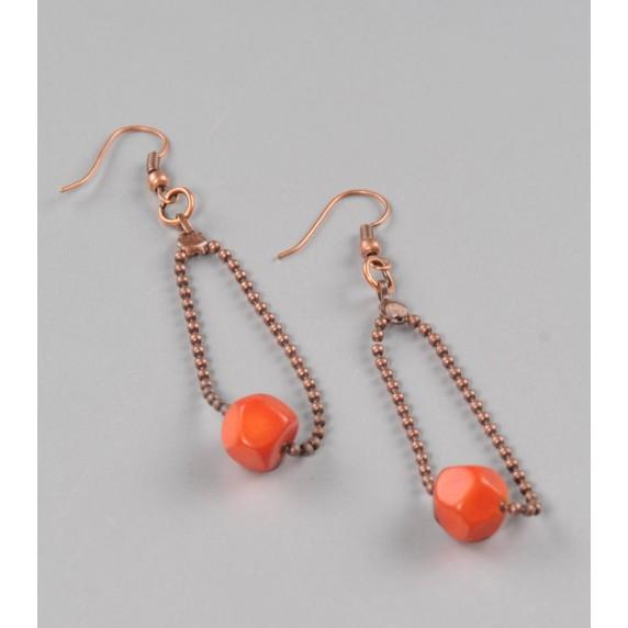 Boucles d'oreilles Açaï orange