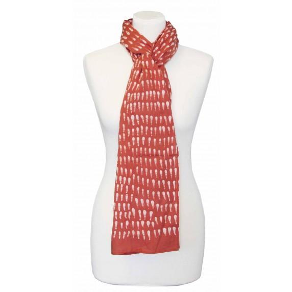 étole rouille coton batik