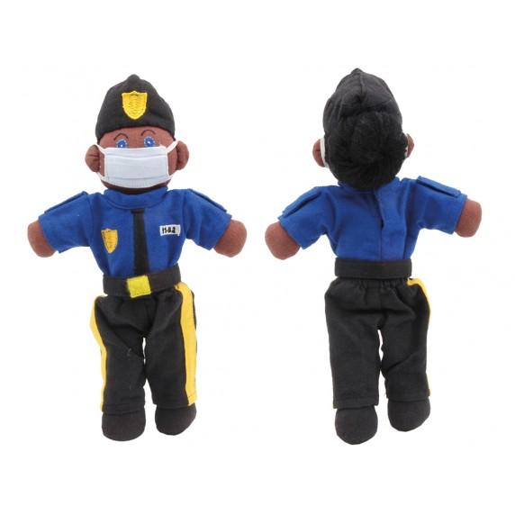 POUPEE POLICIER COVID