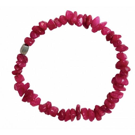 bracelet rose commerce equitable pierre naturelle