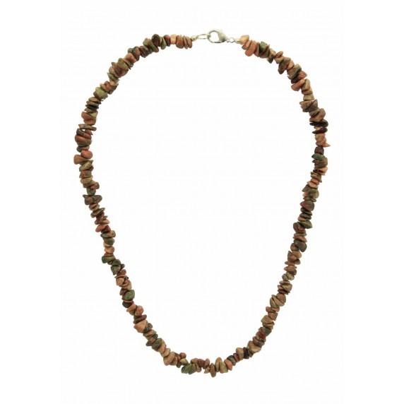 collier jaspe pierre naturelle equitable