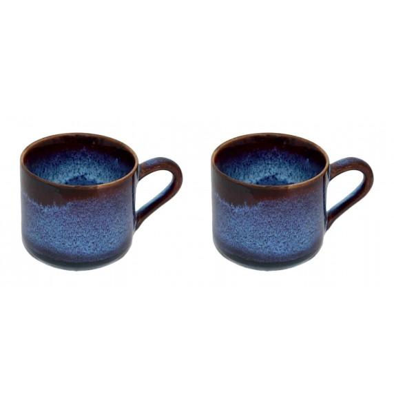 tasse a café bleu ceramique
