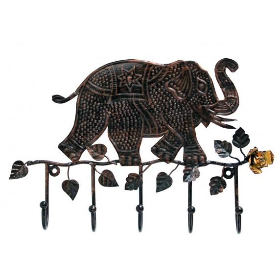 PORTE-MANTEAU ELEPHANT CUIVRE