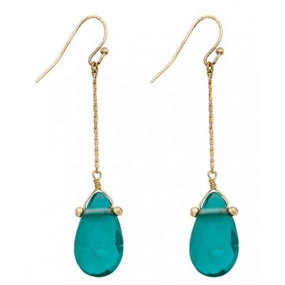 Boucles d'oreilles Olimani bleu