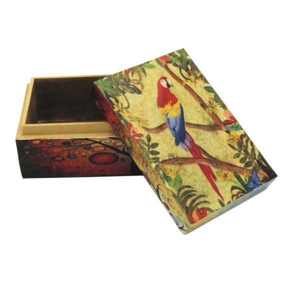 Boîte rectangulaire Perroquet
