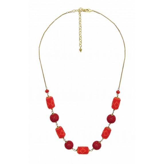 collier rouge orange commerce equitable