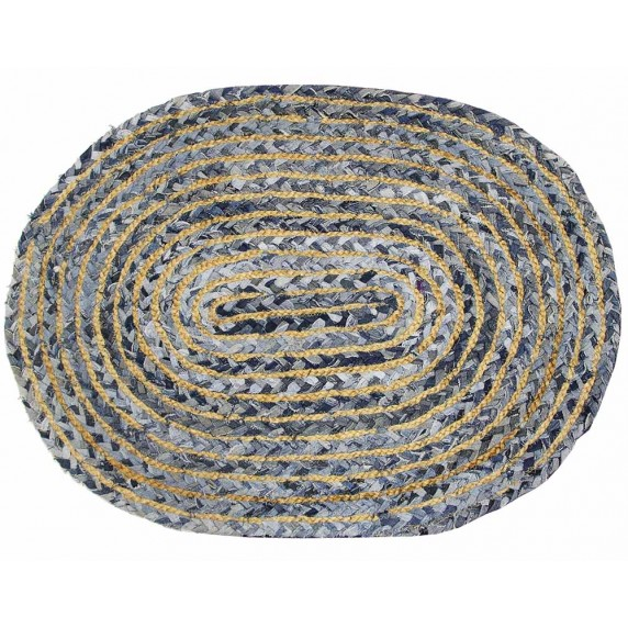 tapis ovale recucle jean
