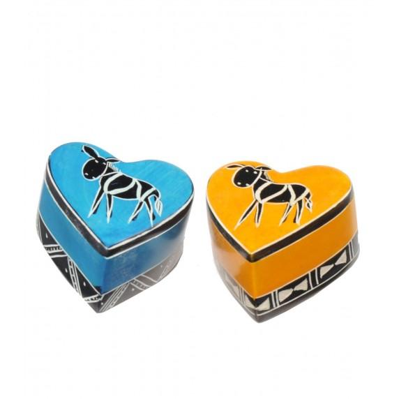 Lot de 2 boîtes Coeur Sauvage