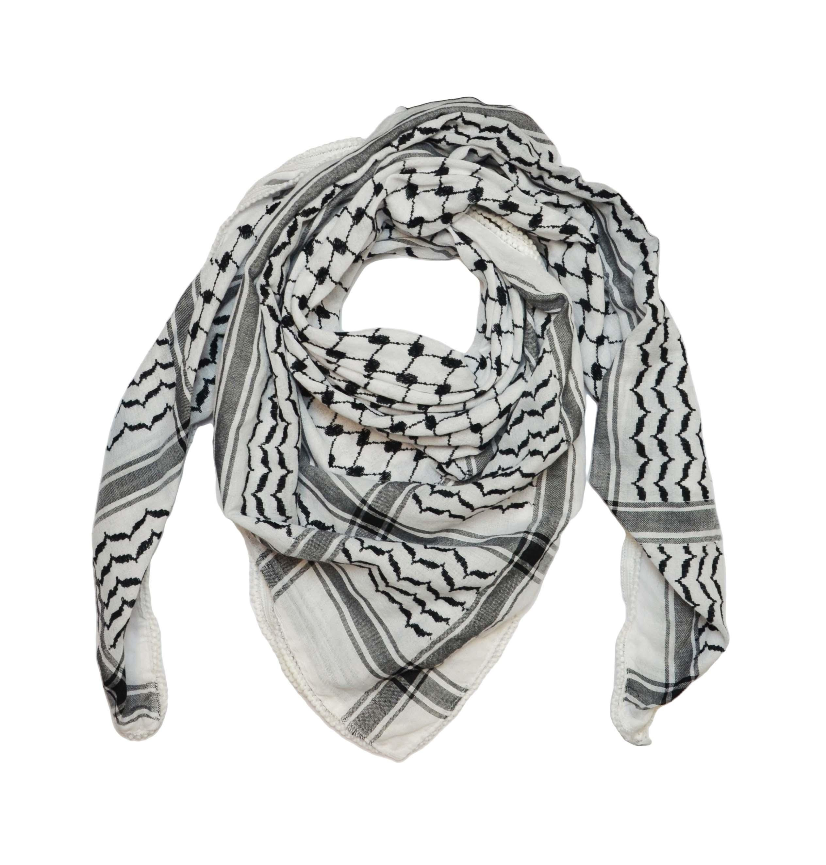 Kéffié d'Hébron noir et blanc
