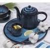 art de la table ceramique bleu artisanat